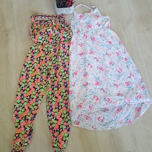 Girls Dress And Jumpsuit Lot Of 2